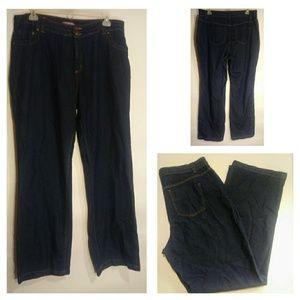Women's Plus Size Dark Wash Blue Jeans 18T